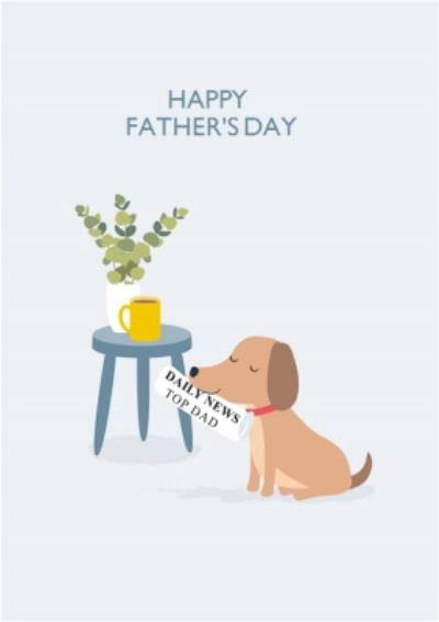 Klara Hawkins Cute Dog Illustration From the Pet Father's Day Card