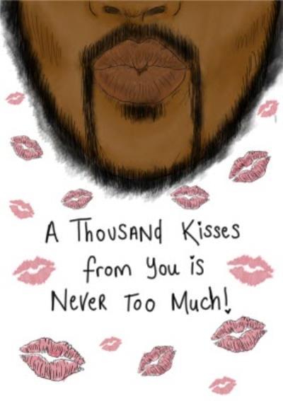 KitsCH Noir Valentines Day Kisses Card