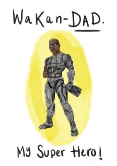 KitsCH Noir Fathers Day Superhero Dad Card