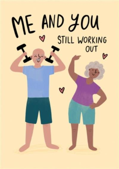 Humour Sport Gym Exercise Healthy Happy Senior Adult Card