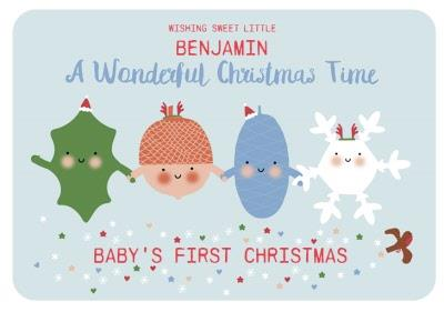 Baby's First Christmas Photo Upload Card