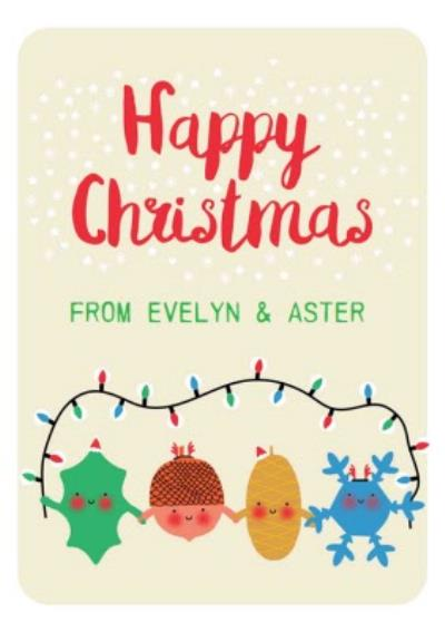 Little Acorns Merry Christmas Personalised Christmas Card