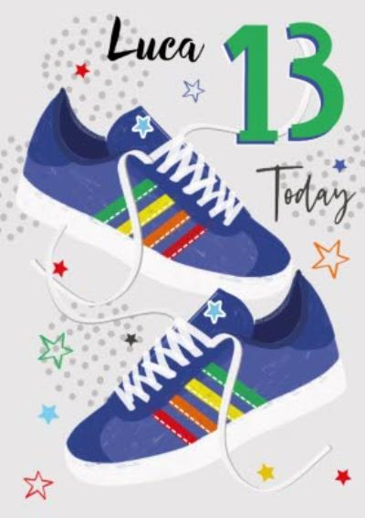 Laura Darrington Modern Illustrated 13 Today Birthday Card