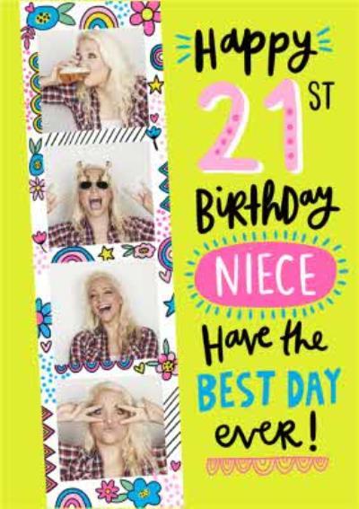 Happy 21st Birthday Niece Photo Uplaod Birthday Card
