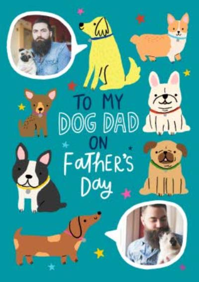 Illustrated Cute To My Dog Dad On Fathers Day