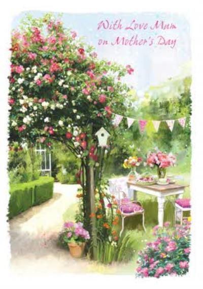 Garden Picnic With Love Mum On Mothers Day Card