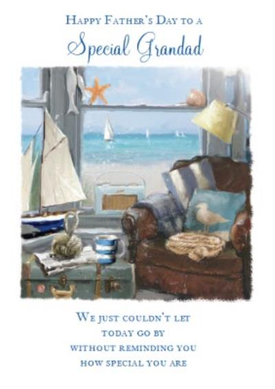 By The Sea Grandad Fathers Day Card