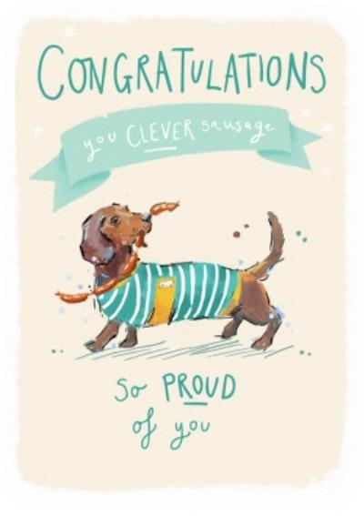 Ling design - Congratulations card - So proud of you