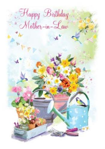 Wondrous Floral Gardening Birthday Card For Mother In Law Moonpig Personalised Birthday Cards Veneteletsinfo