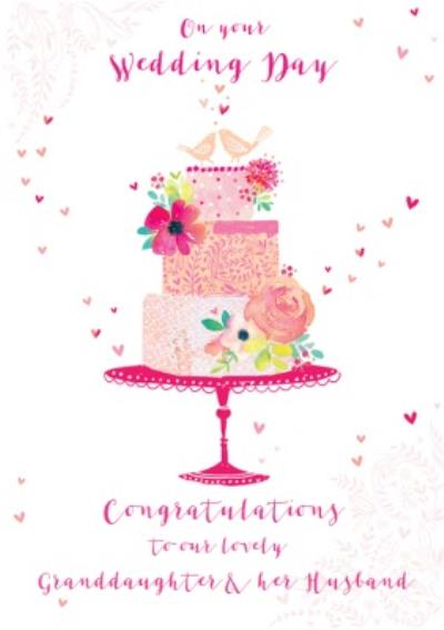 Congratulations Granddaughter And Her Husband Wedding Card