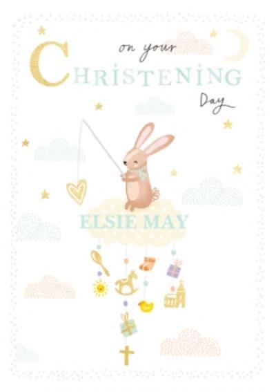 On A Cloud Cute Christening Card