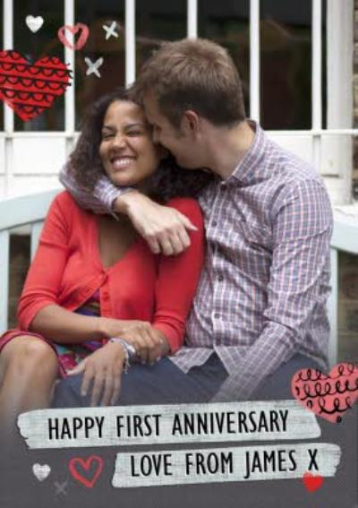 Happy First Anniversary Card - Photo Anniversary Card