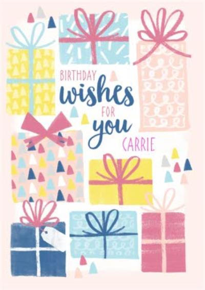Pretty Presents Personalised Birthday Card