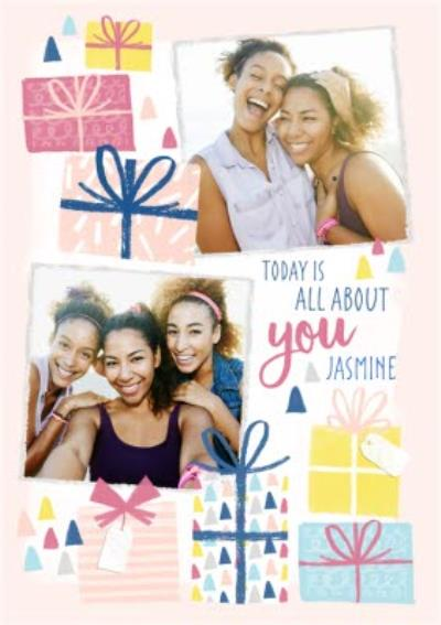 Pretty Presents Personalised And Photo Birthday Card