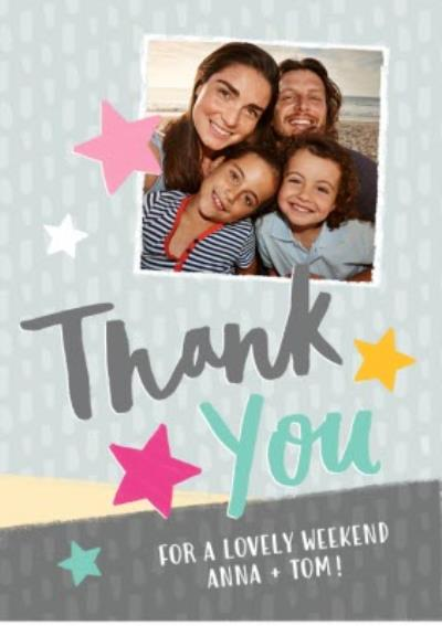 Thank You card - photo upload card