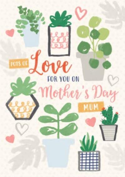 Illustrated Succulents Personalised Mother's Day Card