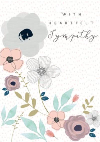 Illustrated With Heartfelt Sympathy Card