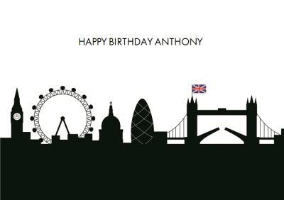 London Skyline Birthday Card