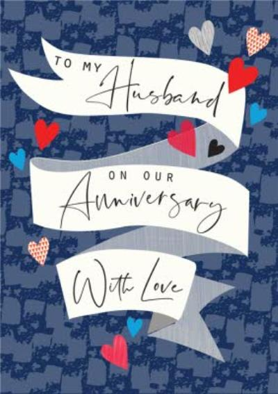 Modern With Love On Our Anniversary To My Husband Card