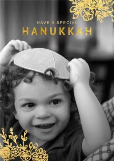 Special Hanukkah Photo Upload Card