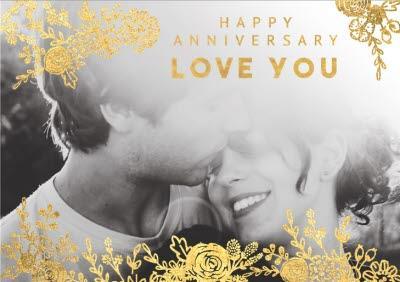 Anniversary Card - Happy Anniversary - Photo Upload