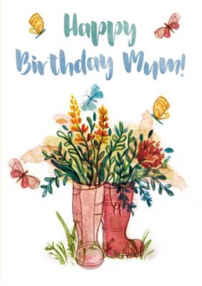 Mum Birthday card - flowers - gardening