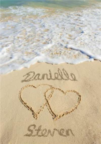 Sand Writing Birthday Card