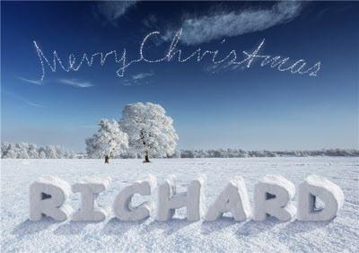 Name In The Snow Personalised Merry Christmas Card