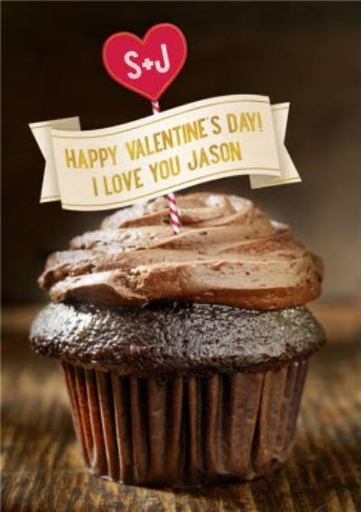 Happy Valentines Day Chocolate Cupcake Card