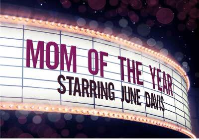 Mother's Day Card - Mum of the Year - Name in Lights