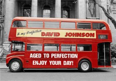 London Birthday Card - London Red Routmaster Bus - My Godfather