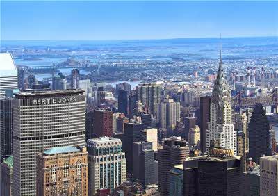 New York Skyscrapers Personalised Birthday Card