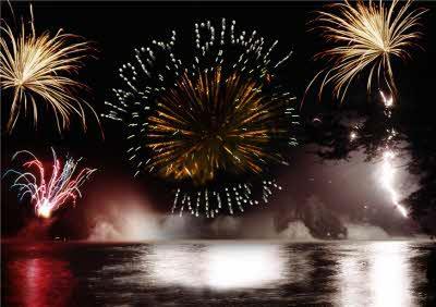 Personalised Firework Diwali Card