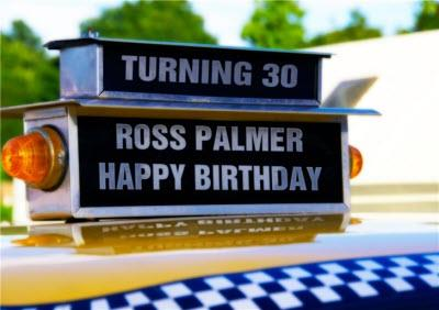 Top Of New York Taxi Personalised Happy 30th Birthday Card