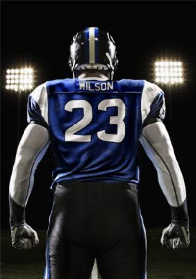American Football Player With Editable Name And Number Personalised Happy Birthday Card