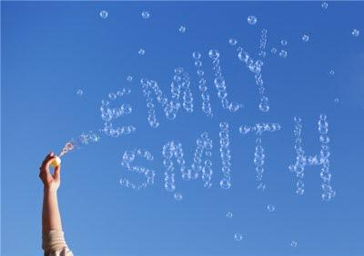 Personalised Text Bubbles Up In The Sky Card