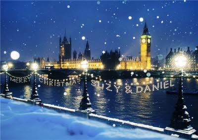 Personalised London Christmas Card - Houses of Parliament