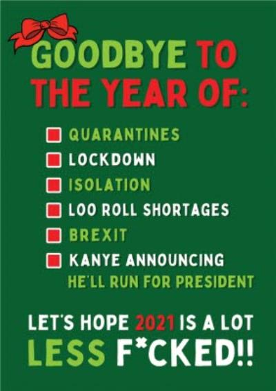 Funny Goodbye To 2020 Covid Christmas Card