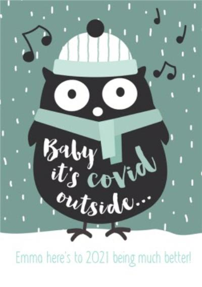 Baby It's Covid Outside Funny Christmas Card
