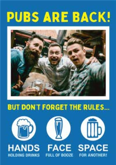 Pubs Are Back Photo Upload Birthday Card