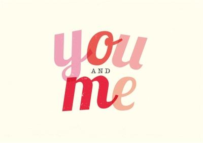You And Me Happy Valentine's Day Card