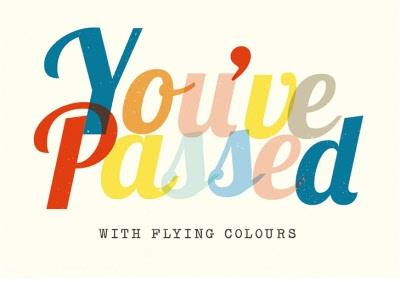 Exams card - congratulations - you've passed - quick card