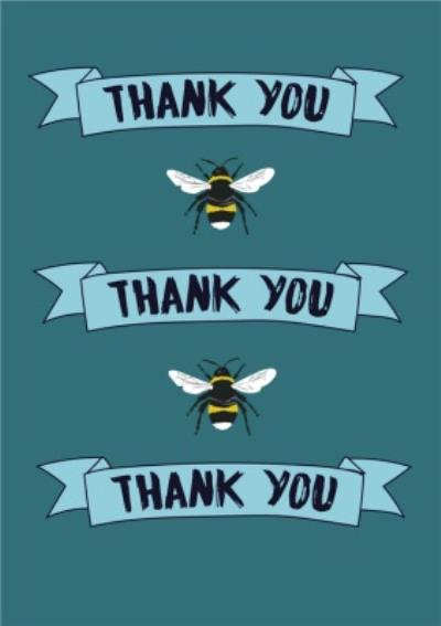 Illustrated Bees Thank You Card