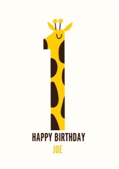 Happy Birthday Card - Cute - Giraffe