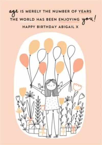 Balloon And Presents Birthday Card