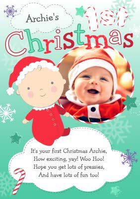 Greeting Cards Baby Christmas Cards Moonpig