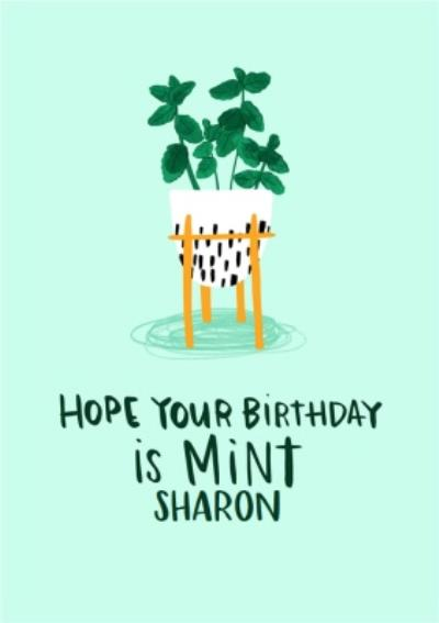 Lucy Maggie Mint Birthday Card