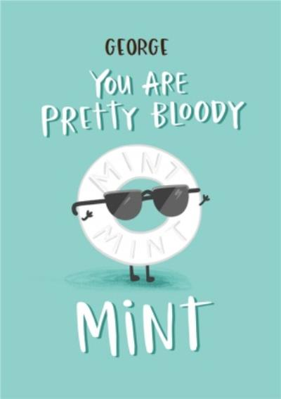 Sunglasses On Sweet You Are Mint Thinking Of You Card