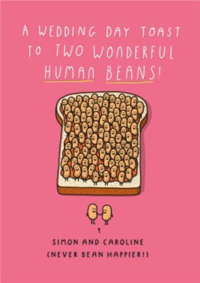 Mungo And Shoddy A Wedding Day Toast To Wonderful Human Beans Wedding Day Card
