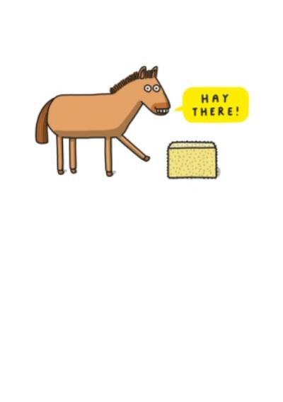 Mungo And Shoddy Funny Horse Hay There Card